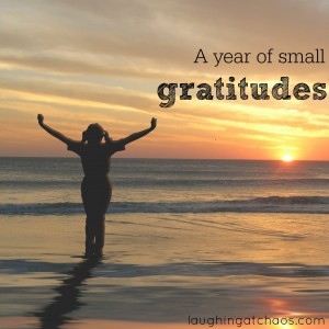 a year of small gratitudes