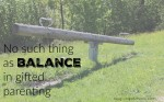 No such thing as balance in gifted parenting